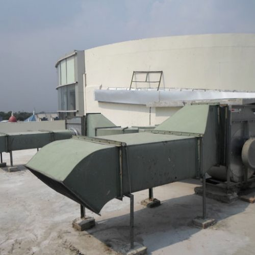 Pemasangan Exhaust Fan di outdoor